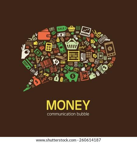 money communication bubble - stock vector