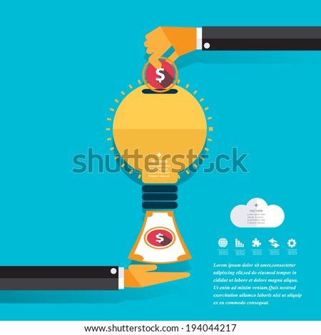 Money Concept Design and Business background. Vector dollar, euro, yen and pound signs. - stock vector