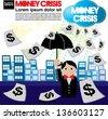 Money crisis conceptual illustration vector.EPS10 - stock vector