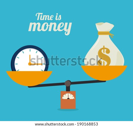 Money design over blue background, vector illustration - stock vector