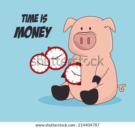 Money design over blue background, vector illustration - stock vector