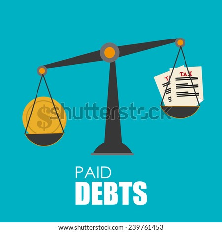 Money design over blue background,vector illustration. - stock vector