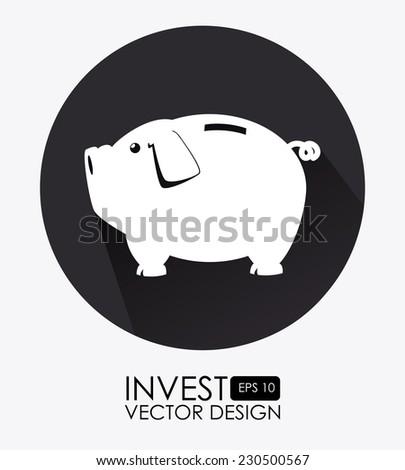 Money design over white background,vector illustration - stock vector