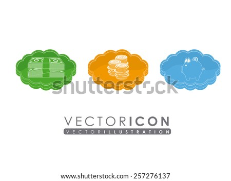 Money design,vector illustration. - stock vector
