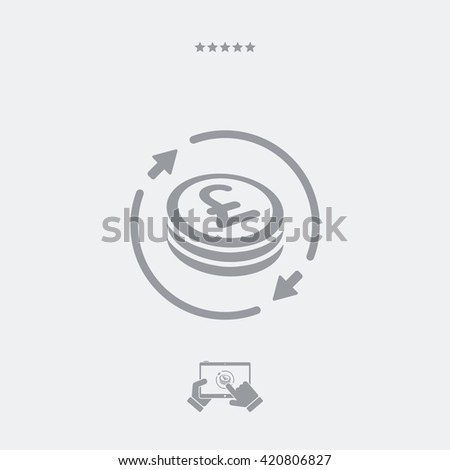 Money exchange icon - Sterling - stock vector