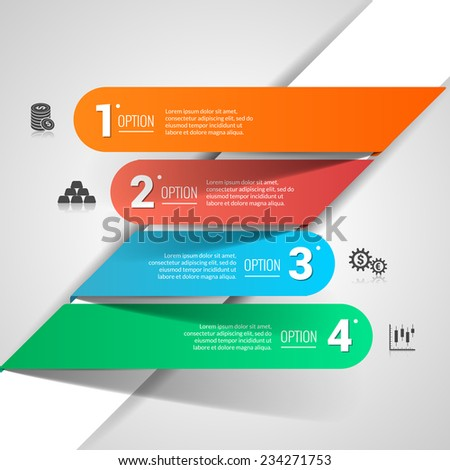 Money finance business infographic with financial icons and paper options vector illustration - stock vector