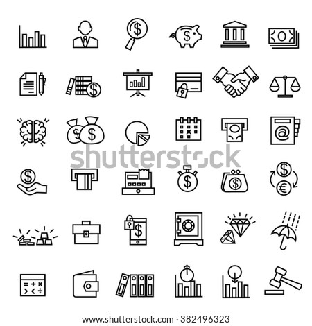 Money, finance, payments icons vector. - stock vector