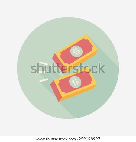 Money flat icon - stock vector