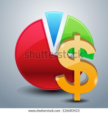 money graphs icon - stock vector