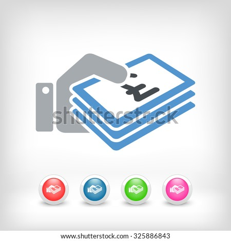 Money icon - - stock vector