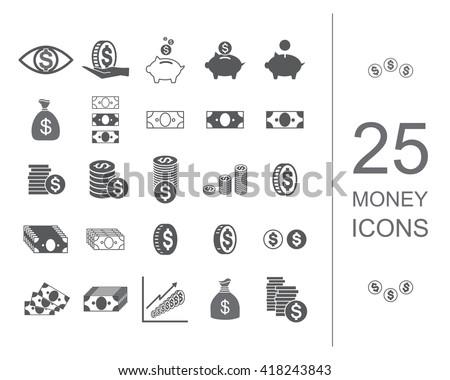 Money icon set. Money icon vector. Money icon dollar. Money icon design. Money icon black. Money icon isolated. Money icon set symbol. Money icon banking. Money icon business. Money icon sign.  - stock vector