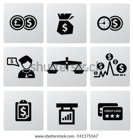 Money icons,vector - stock vector
