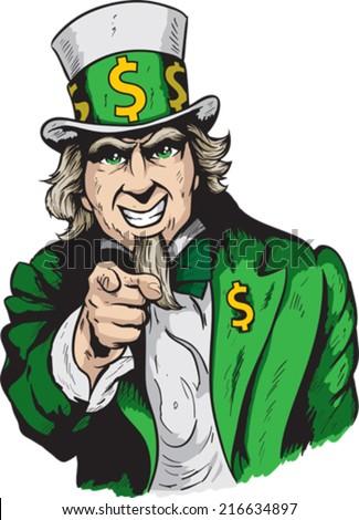 Money Man  - stock vector