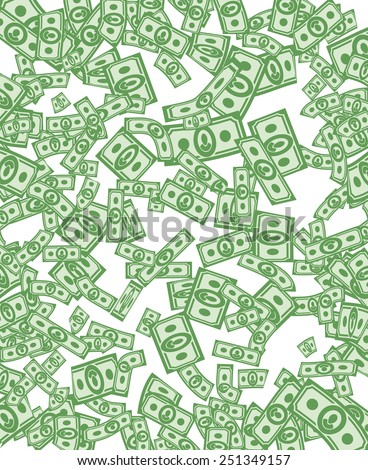 Money pattern. Money background from dollars - stock vector