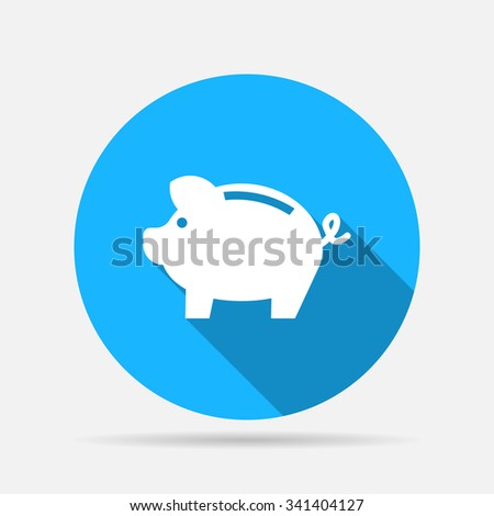 money piggy icon - stock vector