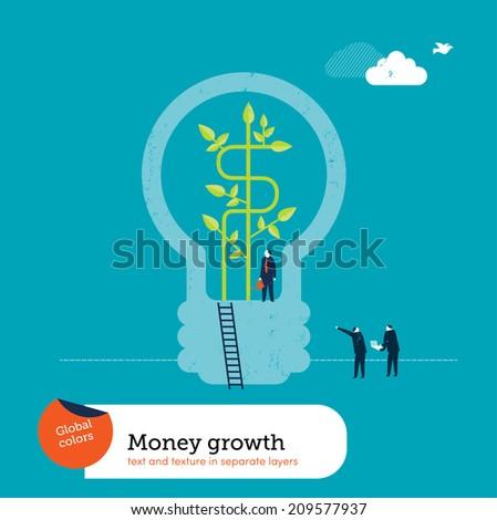 Money Plant Bulb - stock vector
