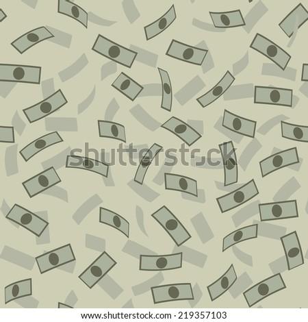 Money rain pattern - stock vector