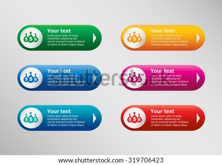 Money symbol and infographic design template, business concept.  - stock vector