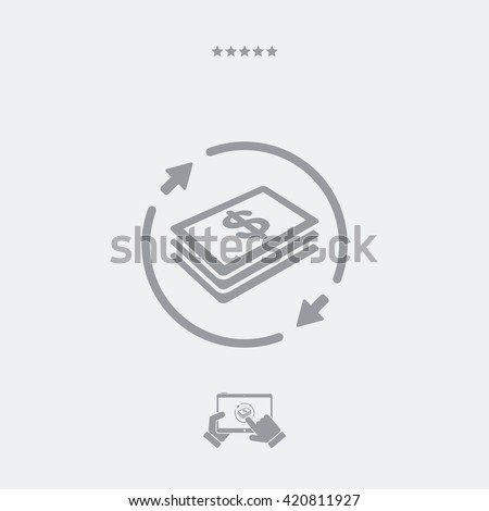 Money transfer icon - Dollars - stock vector