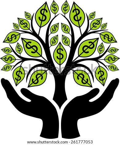 Money tree - stock vector