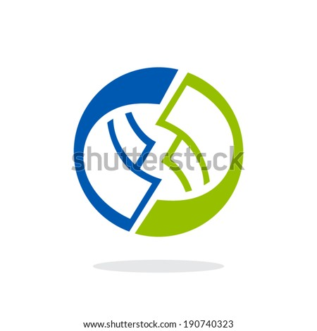 Money turnover sign Branding Identity Corporate vector logo design template Isolated on a white background - stock vector