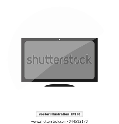 monitor - stock vector