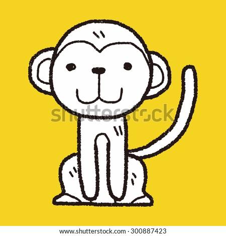 monkey doodle - stock vector