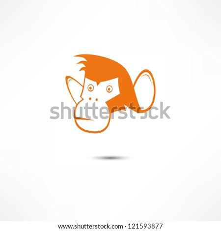Monkey Icon - stock vector
