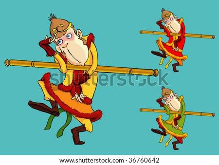 monkey king - stock vector