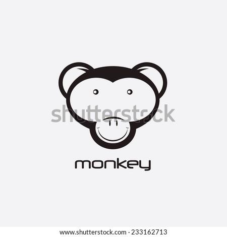 monkey vector design template - stock vector