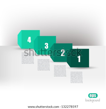 Monochromatic speech cube diagram with text fields. Infographic vector. - stock vector