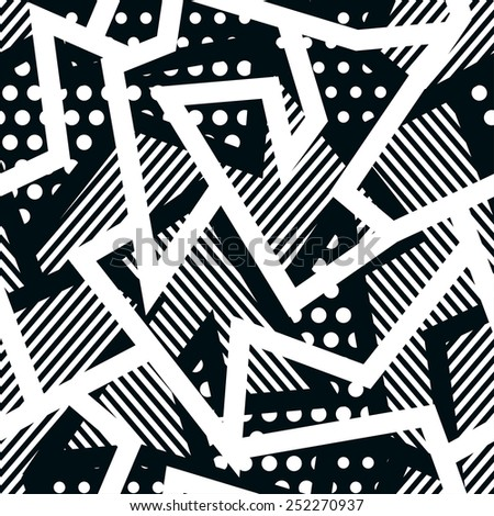 monochrome cloth seamless pattern - stock vector