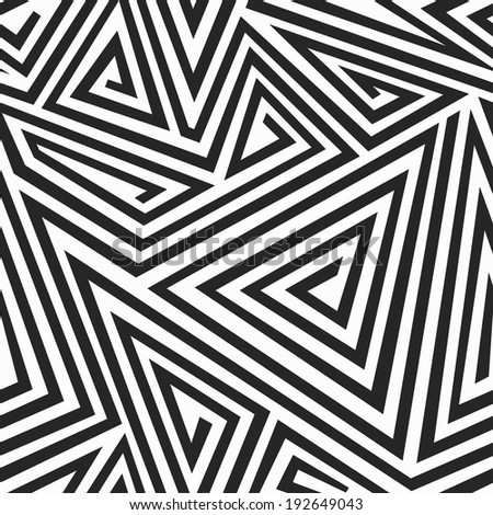 monochrome illusion seamless pattern - stock vector
