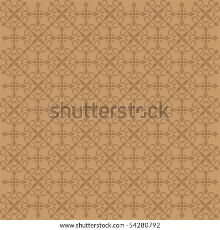 monochrome pattern background with organic ornaments , vector illustration - stock vector