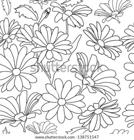 Flower Pattern Drawing Pattern Flower Daisy