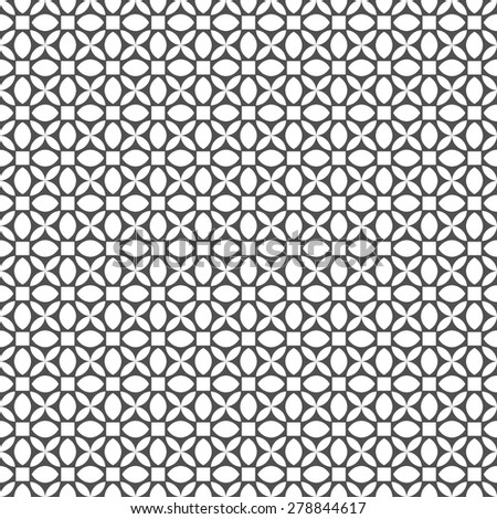 Monochrome seamless pattern in arabic style. Vector background - stock vector