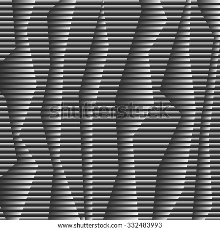 Monochrome striped vertical abstract background. Vector EPS10 - stock vector