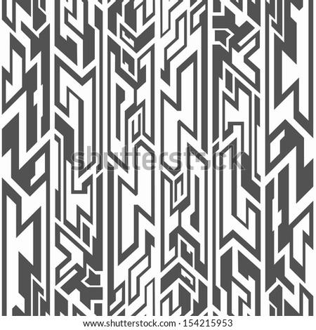monochrome tribal seamless pattern - stock vector