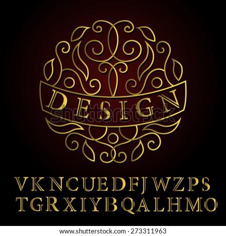 Monogram design elements, English letters. Elegant line art logo design. Business sign, identity for Restaurant, Royalty, Boutique, Cafe, Hotel, Heraldic, Jewelry, Fashion, Wine. Vector illustration - stock vector