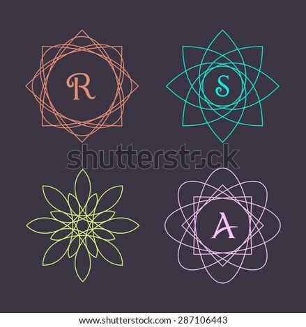 Monogram design elements, graceful template. Calligraphic elegant line art logo design. Emblem Letters.  - stock vector