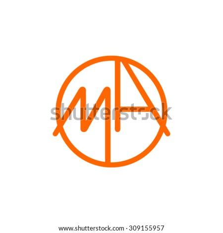 Monogram Letters MA - stock vector