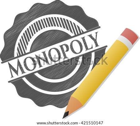 Monopoly pencil draw - stock vector