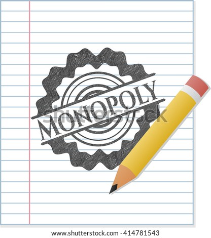 Monopoly with pencil strokes - stock vector