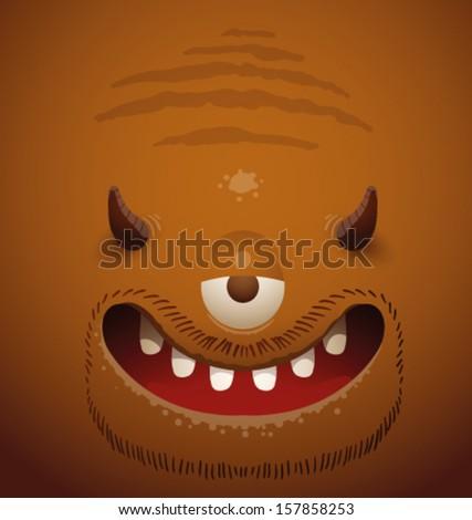 Monster background, vector - stock vector
