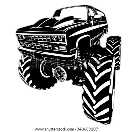 Monster Truck - stock vector