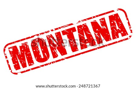 Montana red stamp text on white - stock vector
