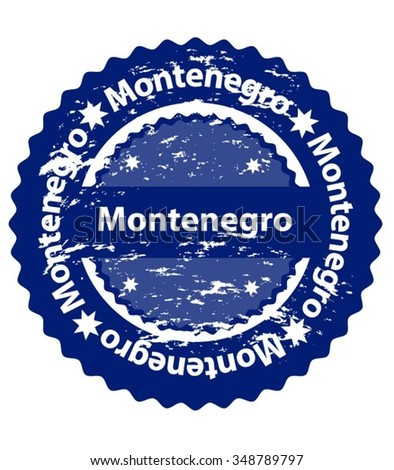 Montenegro Country Grunge Stamp - stock vector