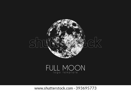 Moon logo design. Creative moon logo. Night logo. Full moon. - stock vector
