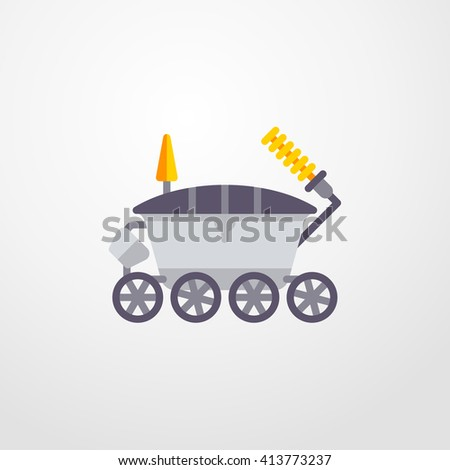 moon rover icon. moon rover sign - stock vector