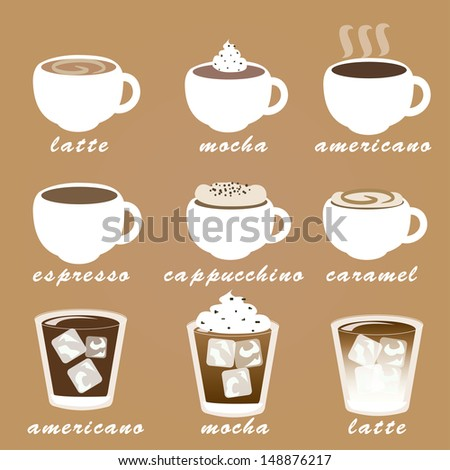 Morning coffee vector set. - stock vector